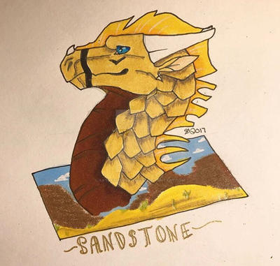 Old drawing of Sandstone by ArtOfTheSnowWolf