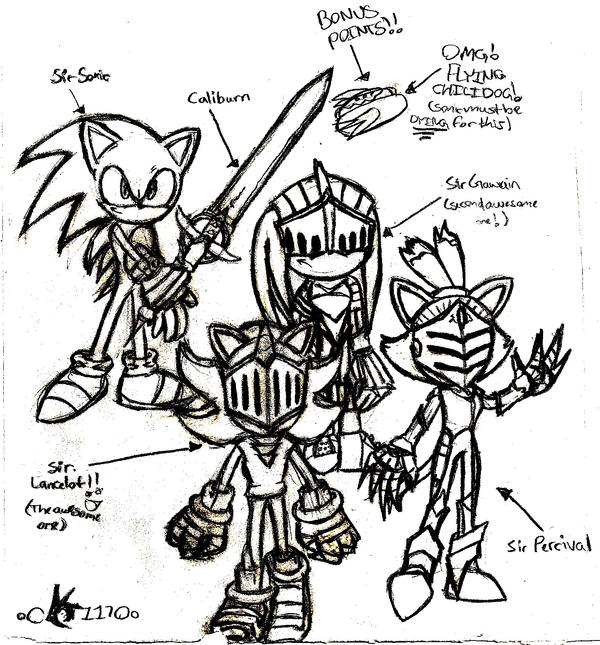 sonic black knight coloring pages