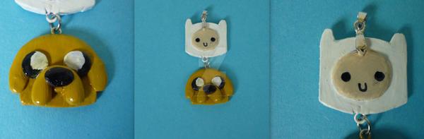 Adventure time pendant by smmilingfreak