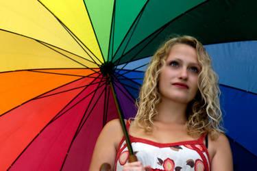 Umbrella-girl in the sommer