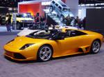 orange top open Lamborghini