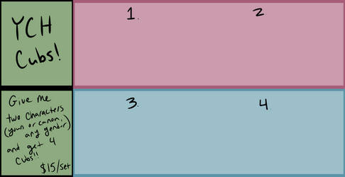 YCH/Breedables Grid Cubs (Unlimited Slots!)