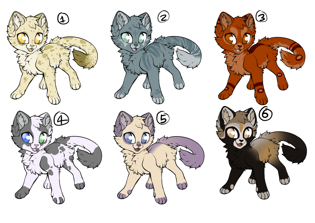 Kitty Adoptables Batch 1 OPEN by ShidatheUmbreon
