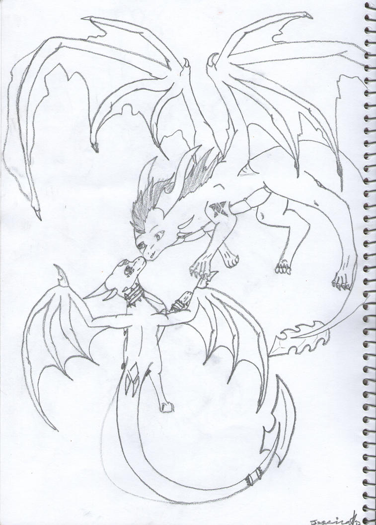 Nero Sketch Nero and Cynder SKETCH...