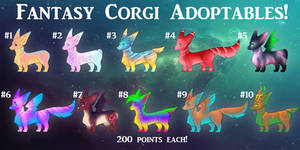 Fantasy Corgi Adoptables OPEN by Cynder18