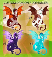 Custom Dragon Adoptables! OPEN by Cynder18