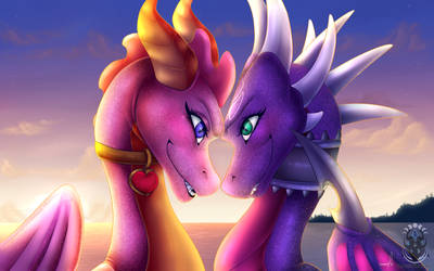 Commission - Ember x Cynder by RavenNocturna