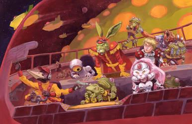 Bucky Boards a Toad Ship by JoriB