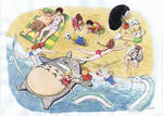 Miyazaki Folks at the Beach