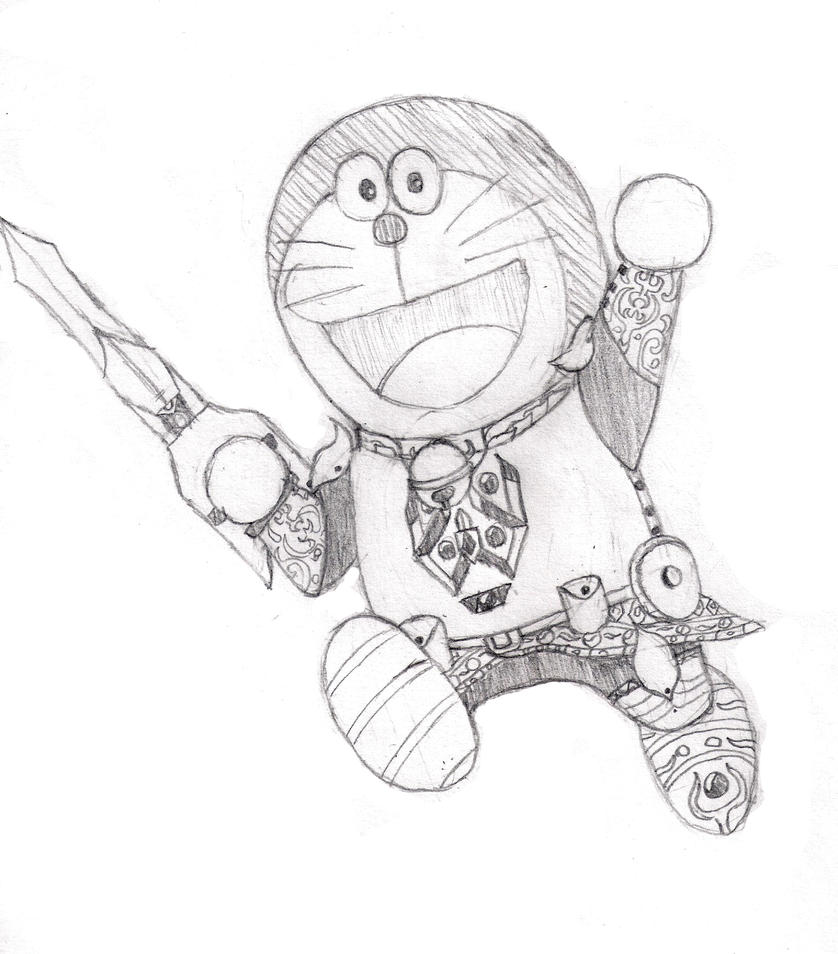 900 Gambar Doraemon Arsiran Infobaru