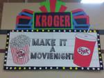 Kroger Movie Night Theater Marquee