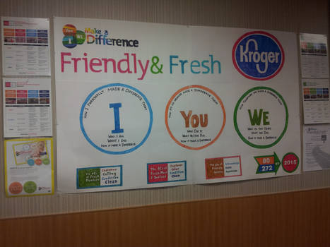 Kroger Friendly and Fresh Poster