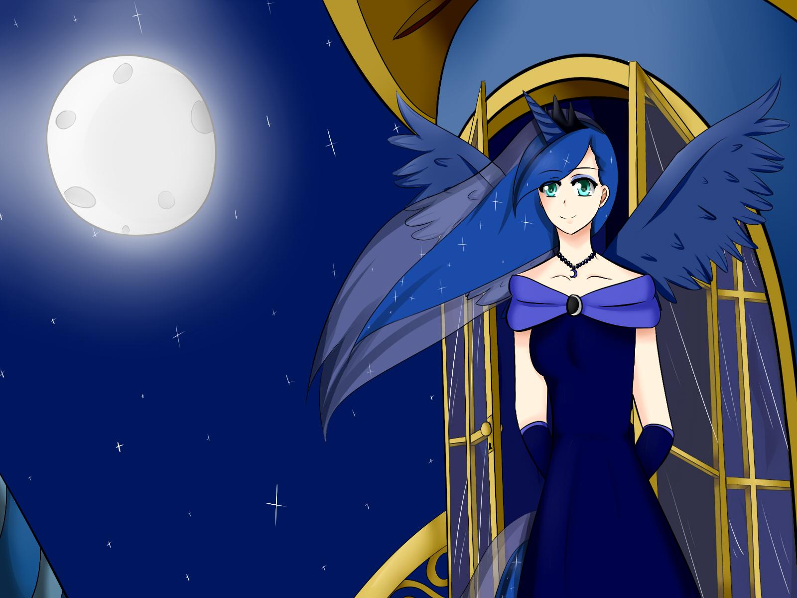 Princess Luna (Human form) (MLP) by Luchsx3 on DeviantArt