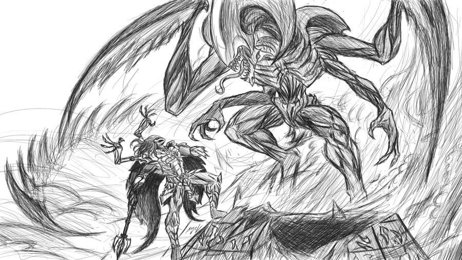 Predator Viktor vs Alien Cho'gath by AngelBarrios