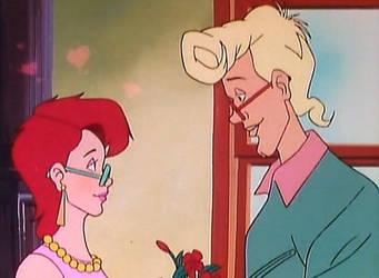 Egon and Janine- Gift of Geranium by bluecinderella4