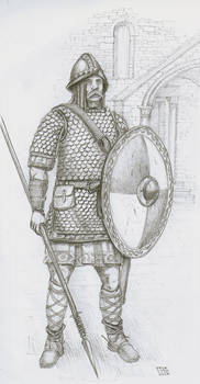 Frank Heavy Horseman, VIII century AD.(kt)