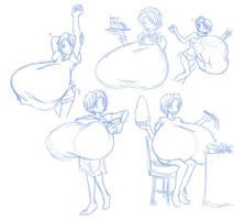 Various Kokoro Doodles by SaburoX