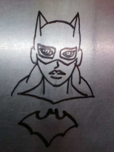 Stainless Batgirl by MetalPudding