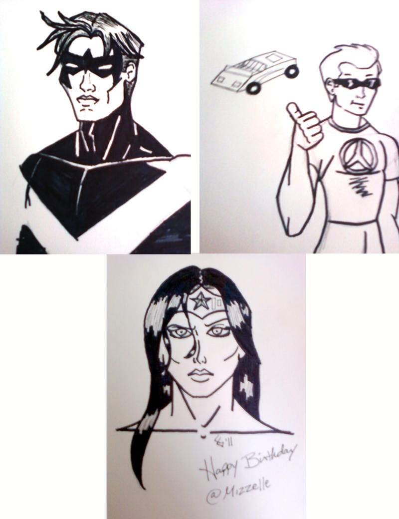 DC Sketches by MetalPudding