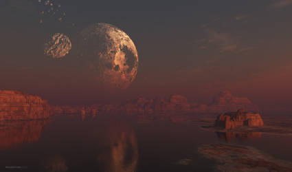 Broken Moon by jamesgrote