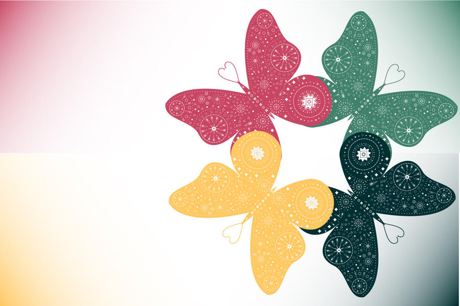 Group Of Colorful Butterfly Backgrounds 24