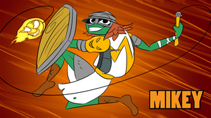 Teenage Mutant Templar Turtles: Mikey