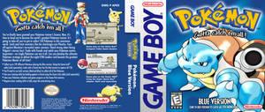 Pokemon Blue - HQ Custom DS Cover Recreation
