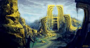 golden ruins by Robedirobrob