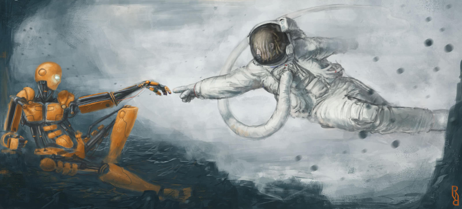 Creation of adam 2 0 by robedirobrob on deviantart for Creation of adam mural