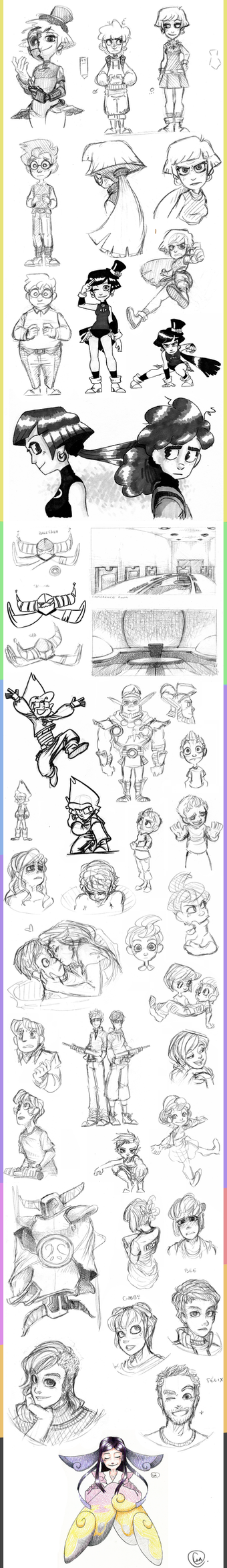 Sketch Dump 7 by CPTBee