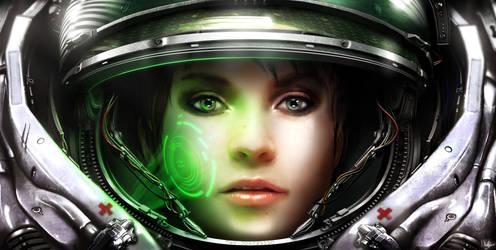 Starcraft Terran Medic by VonSchlippe