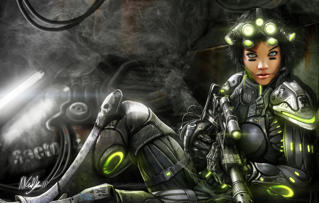 Starcraft Terran Ghost by VonSchlippe