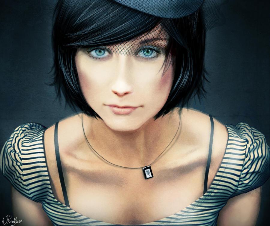 Girl in Blue by VonSchlippe