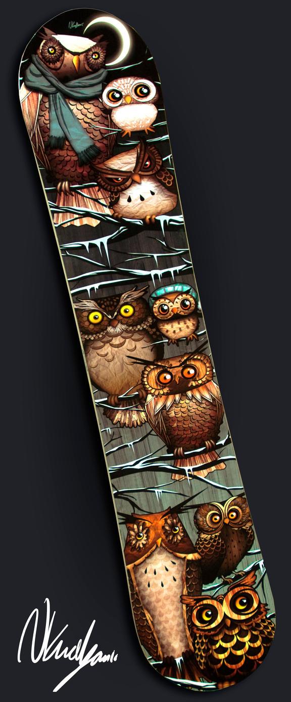 Custom Owl Snowboard by VonSchlippe