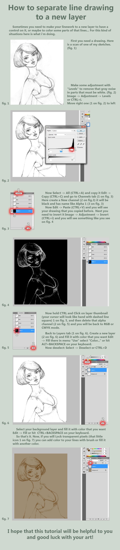 Line Art Layer : Lines to layer tutorial by dmitrygrebenkov on deviantart