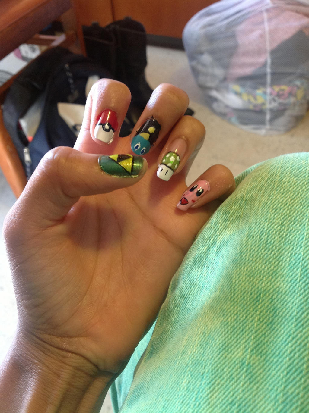 Gamer Nails by XDXDXDXDXD1 on DeviantArt