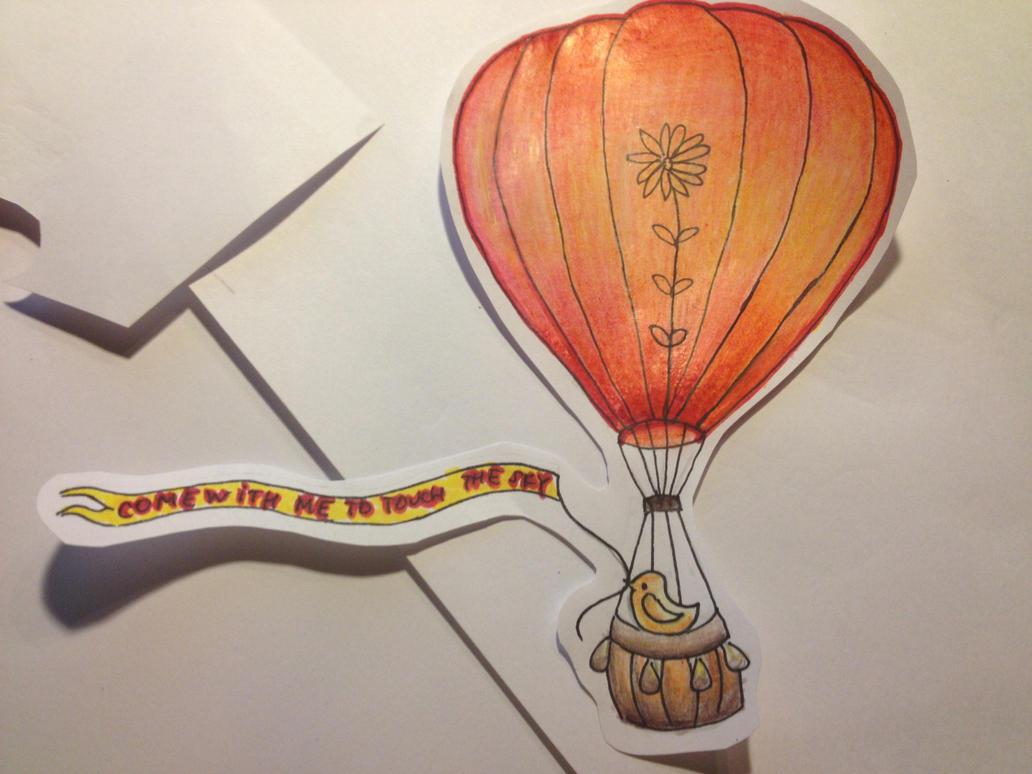 hot air balloon color pencil drawing by greeneyedjax