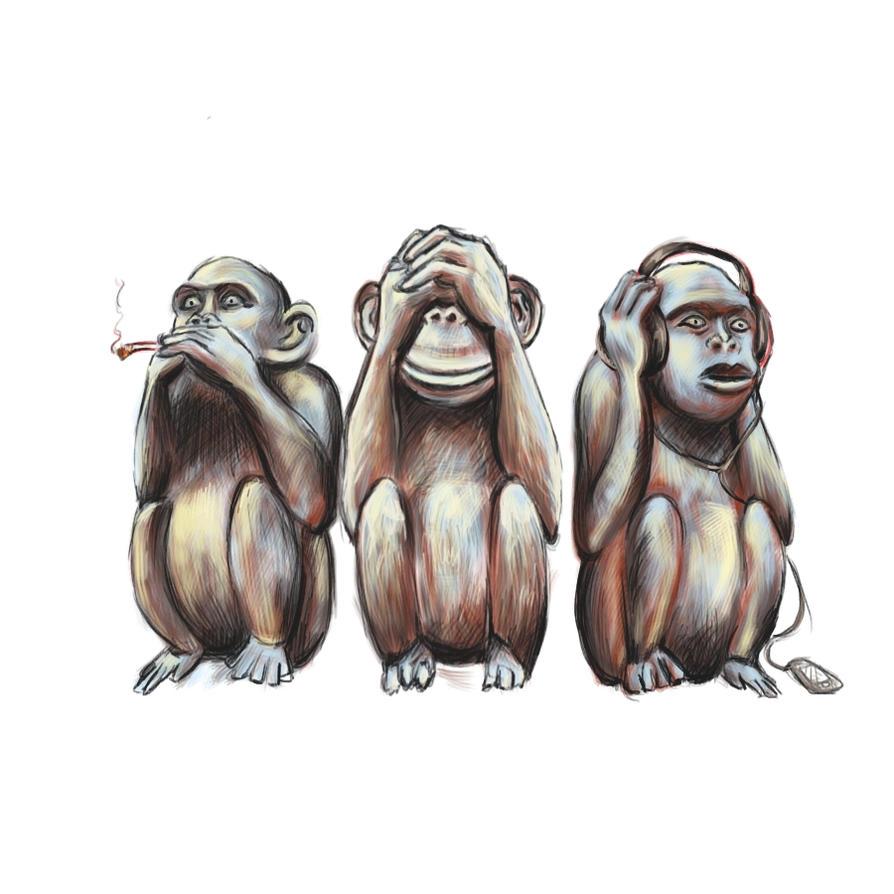 Three Wise Monkeys Dra...