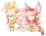 Harvest Rose Marionette Twins + Video by RumCandyAdopt