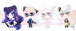 Abstract Chibis (3 OPEN) by RumCandyAdopt