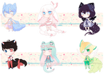 Kawaii Chibis (OPEN) by RumCandyAdopt