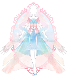 C: Sky Blossom Wedding Outfit by RumCandyAdopt