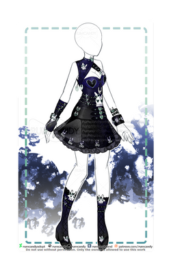 C: Gothic Punk Skull Bunny Outfit