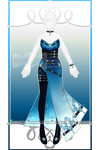 Azure Laced Gemstone Outfit R369 (sold) by RumCandyAdopt