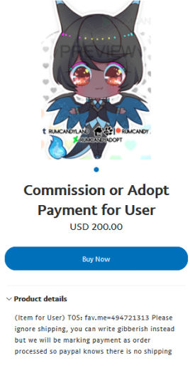 paypal social button link example by RumCandyAdopt