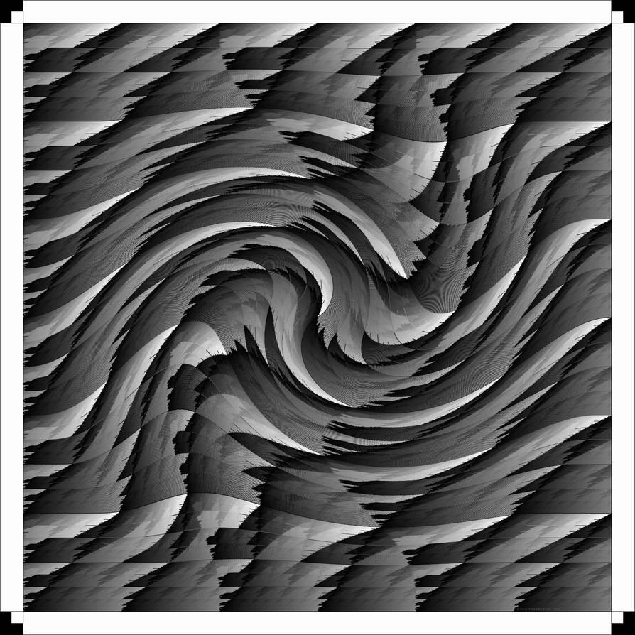 Black And White Jagged Twirl