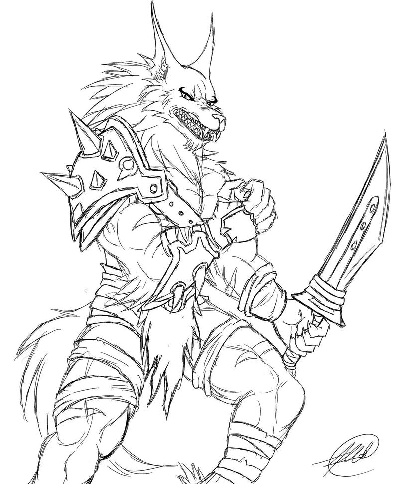 Werewolf Sketches Drawings Sketch Coloring Page
