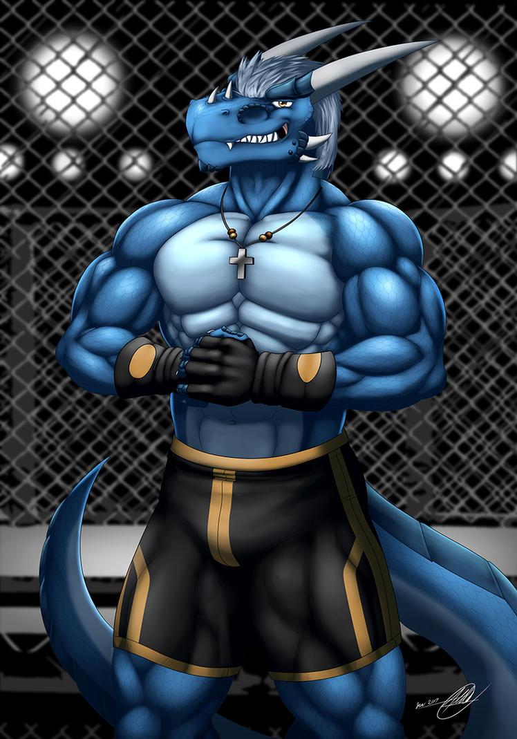 Antonio the Blue Drake by SymbolHero