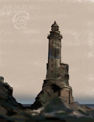 Digital Painting Lighthouse by Nico894