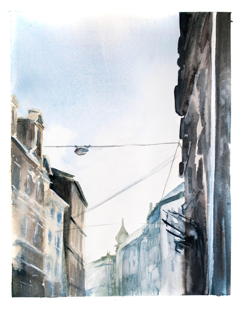 Street in Poznan by AgataZiolkowska